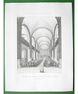 ARCHITECTURE PRINT : France Church Saint Martin at Noeux-les-Mines Interior - $9.45