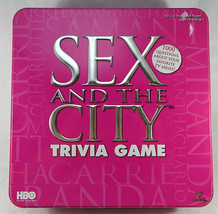 Sex and The City Trivia Game Pink Tin 2004 Age 18+ Excellent Condition - $15.00