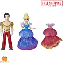 Disney Princess Cinderella & Prince Charming Collectible Small Doll Fash... - $13.98