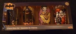 Batman Glasses - 4 Piece Tumbler Set 16 Oz - Joker, Harley Quinn & Catwo... - $28.01