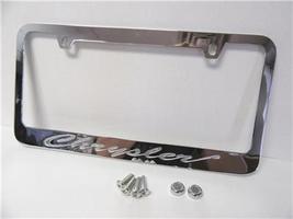 Chrysler Models Chrome Engraved Metal License Plate Frame with Logo Scre... - $22.99