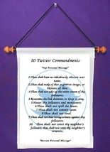 10 Twitter Commandments - Personalized Wall Hanging (811-1) - $18.99
