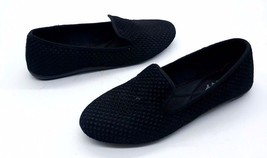 DKNY Size 7.5 Black Perforated Slip On Flat Loa... - $49.99
