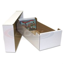 1 Bundle 25 BCW Postcard Corrugated Cardboard Storage Box for 4x6 Postca... - $43.88