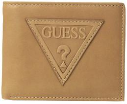 Guess Men's Leather Credit Card ID Billfold Rfid Wallet Tan 31GU220014