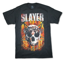 Slayer-Thorny Skull Crown-2015 World Tour-X-Large Black  T-shirt - $18.72
