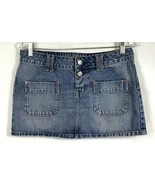 American Eagle Womens 8 Denim Jean Mini Skirt Button Fly Pencil Straight... - $19.87