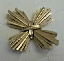 Trifari Textured Gold  Pin Signed w/ Crown 1955-1970's - $29.70