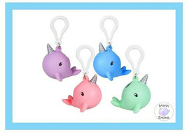 (4 Pack) Pooping Narwhal Squeezy Keychain/Backpack clip-Novelty-Party-Prize - $11.99