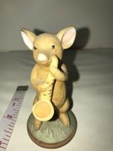 EUC Vintage Enesco Pig Figurine Playing Saxophone 1979 Ceramic - $7.69