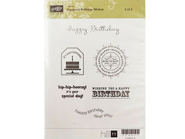 Stampin' Up! Happiest Birthday Wishes Sets 1 and 2 #122617 image 3