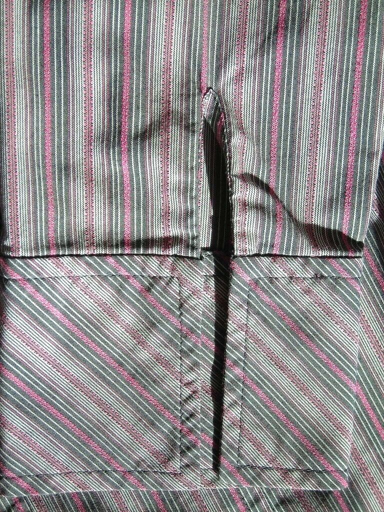 lot 2 dress shirts button 3/4 sleeve fitted stripe Old Navy size XS Express sz 2 image 8