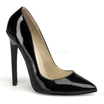 "PLEASER SEXY20/B Women's Classic Sexy Black 5"" High Heels Stiletto Pumps Shoes - $48.95"