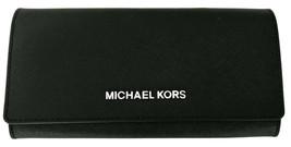 Michael Kors Purse Envelope Wallet Carryall Black Saffiano Leather Large... - $193.34