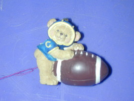 1995 Enesco Bear Football Ornament Marjorie Sarnet - $10.22