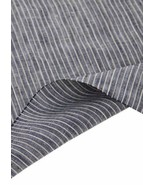 55'' Wide Home Linen Fabrics Striped Flax Fabric Dark Blue (17.5 55 Inches) - $22.31