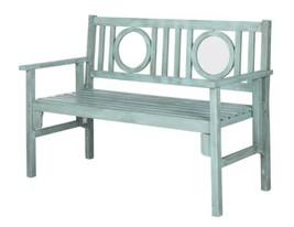 Garden Bench Patio Sweetheart Pale Teal Blue Outdoor Furniture Deck Yard... - $227.65