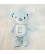 "10"" Kellytoy Baby Boy Plush Blue MY FIRST BEAR Lovey Teddy Kelly Rattle ... - $16.99"