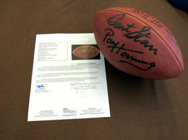 BART STARR PAUL HORNUNG PACKERS HOF SIGNED AUTO WILSON ROZELLE FOOTBALL ... - $989.99