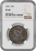 1832 50c NGC XF40 (Small Letters) Bust Half Dollar - $189.15