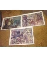 """VTG LOT 3 1980's Sesame Street 11"""" X 16"""" Framed Art Prints Cookie Monste... - $94.95"""