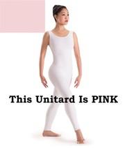 Capezio 8934 Pink Adult Size Petite/Extra Small (2-4) Nylon Lycra Tank Unitard - $14.99