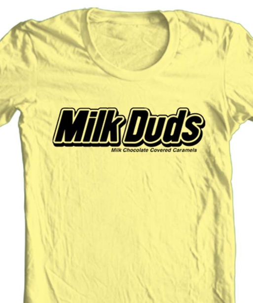 Milk Duds T-shirt 100% graphic printed caramel candy hershey Co. chocolate