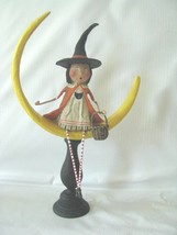 "Lori Mitchell   New Halloween Witch in Crescent Moon   Moonlight Magic12.5"" - $42.52"