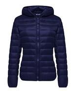 Wantdo Women's Hooded Packable Ultra Light Weight Down Coat Short Outwea... - $53.80