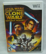 STAR WARS The Clone Wars - Republic Heroes NINTENDO WII Video Game Complete - $14.85