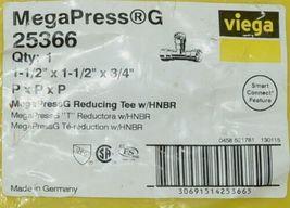 Viega MegaPress G 25366 Reducing Tee With HNBR Carbon Steel image 5
