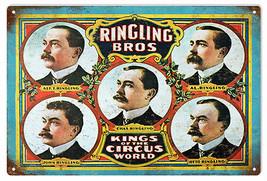Ringling Bros Kings Circus Old World Aluminum Sign - $25.74