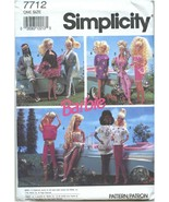 Simplicity Barbie Sewing Pattern 7712 Wearable Art Wardrobe 1991 - $19.99
