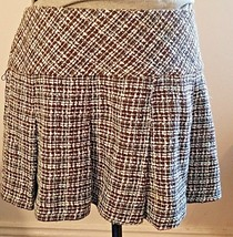 Guess Jeans Pleated Tweed Blue and Brown Mini Skirt - $15.00