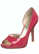 Jessica Simpson Josette Pink D'Orsay Heels Shoes Patent Leather 7.5 Neon - $29.65