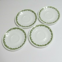 Vintage Corelle Corning Spring Blossom Crazy Daisy  Saucers Set of 4 - $27.68