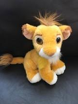 "1993 The Walt Disney Co. Mattel 9"" Lion King Simba Plush Stuffed Cub - $14.01"