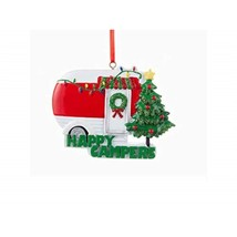 Kurt Adler Happy Campers Caravan Christmas Ornament, Red - $19.70