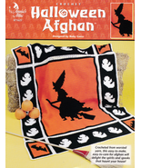 Halloween Afghan Witch Ghosts Bats Holiday Blankets Warmth Spirits Spook... - $11.87
