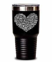 Artsy Valentine's Day Tumbler - Love Heart - Insulated Thermos for Best ... - $34.64