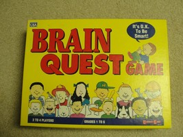 Brain Quest The Game Where It's OK To Be Smart! Vintage Board Game 1993 - $9.79