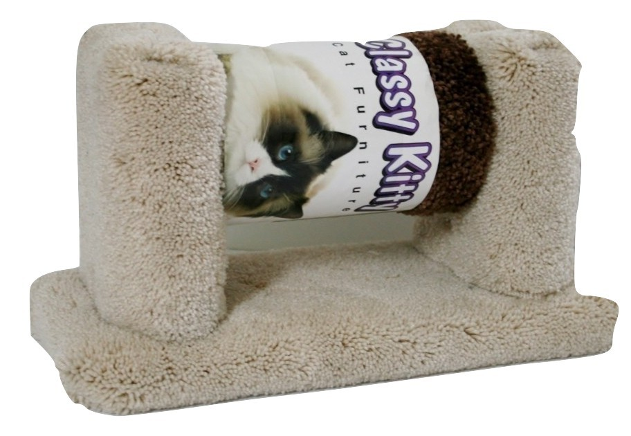 Classy Kitty Roller Cat Toy, Beige, Carpeted, New item 49995  14L x 5.5W x 7Tall