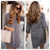 Ann Taylor LOFT Gray Floral Mixprint Shirt Dress Button Down Size S - $34.65