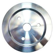 Chevy Small Block Short Water Pump Single-Groove Aluminum Crankshaft Pulley image 4