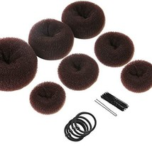 Donut Hair Bun Maker 7 Pieces, Teenitor Ring Style Bun Maker Set with (A... - $14.65