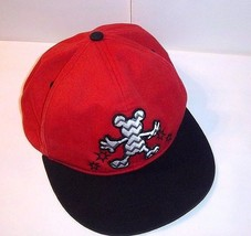 3857c1ef125 Disney Parks Mickey Mouse Snapback Hat Zig Zag Red Black Silver 1928 Col.