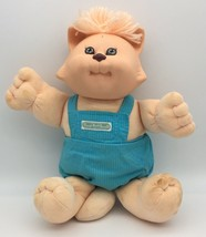 Cabbage Patch Koosa Doll Cat Vintage Xavier Roberts Blue Overalls OAA 1985 - $24.95