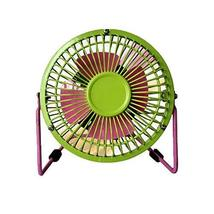 Mini Fan,Portable Fan, USB Fan, Desktop Fan(Green and Pink ,4INCH) - $21.83
