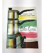 Solar Queen Waterless Cookware Cooking Instructions Manual - $19.79