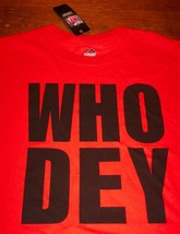 CINCINNATI BENGALS  WHO DEY NFL FOOTBALL T-Shirt XL NEW w/ TAG - $19.80
